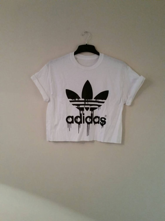 c3cd194a935ca unisex customised adidas crop top t shirt top grunge festival fashion