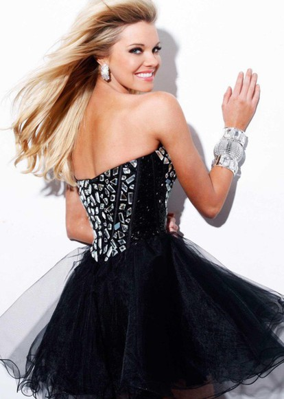 sexy dress short dress prom dress sherri hill black dress dress homecoming dress 2014 prom dresses