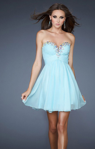 short prom dress 2015 prom dresses cheap formal dresses sweet 16 dresses sky blue homecoming dress blouse