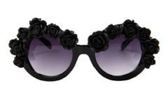 Life in black Baroque Sunglasses- Black – Glamzelle