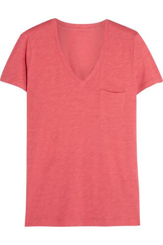 t-shirt shirt cotton coral top