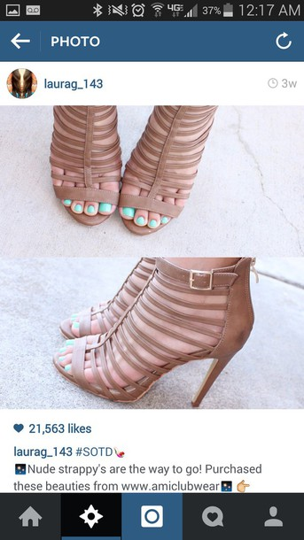 shoes nude heels