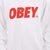 Obey Font Crew Neck Sweatshirt in White Red 331740029 Wht | eBay