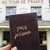 home accessory,paris,french,velvet,dusty pink,france,gold,travel,weekend escape,cute,lovely,trendy,girly,french girl style,gift ideas,quote on it,passport cover,Accessory