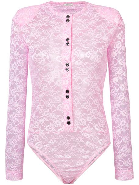 NINA RICCI skirt pleated skirt pleated women spandex lace purple pink