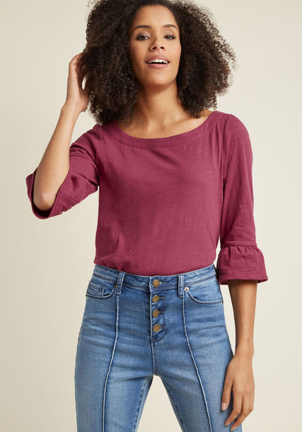 MDT1193 pullover stylish 100 cotton pink bright purple sweater