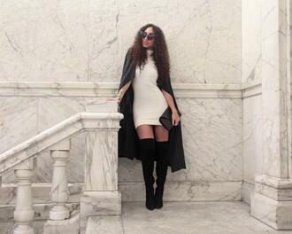 from hats to heels blogger dress coat shoes sunglasses bag jewels