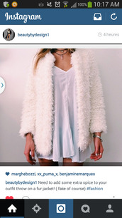 jacket,comfy,faux fur,silk,white coat,white jacket,fur,warm,veste,manteau,blanc,fausse fourure