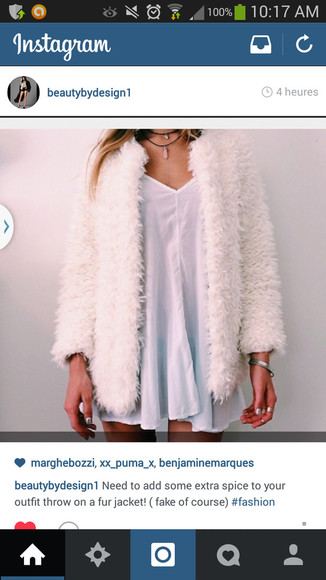 jacket white jacket comfy fake fur silk white coat fur warm veste manteau blanc fausse fourure