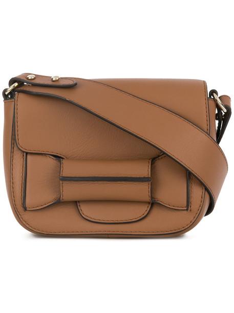 Tila March mini women bag mini bag leather cotton brown