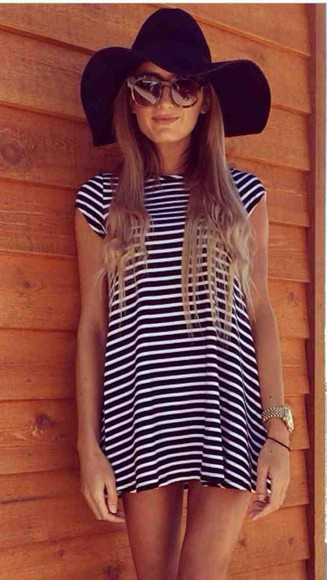 oversized t-shirt stripped dress