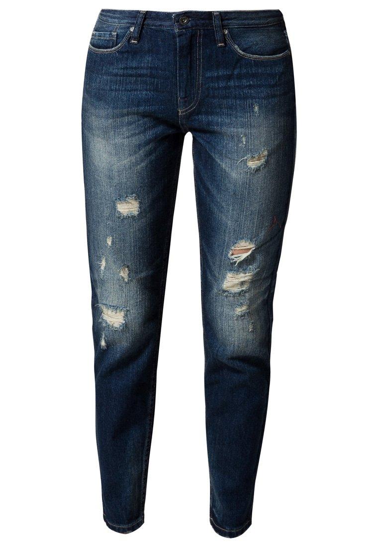 ONLY EVE BOYFRIEND - Jeans Straight Leg - dark blue denim - Zalando.de