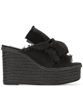 women sandals platform sandals leather cotton black shoes