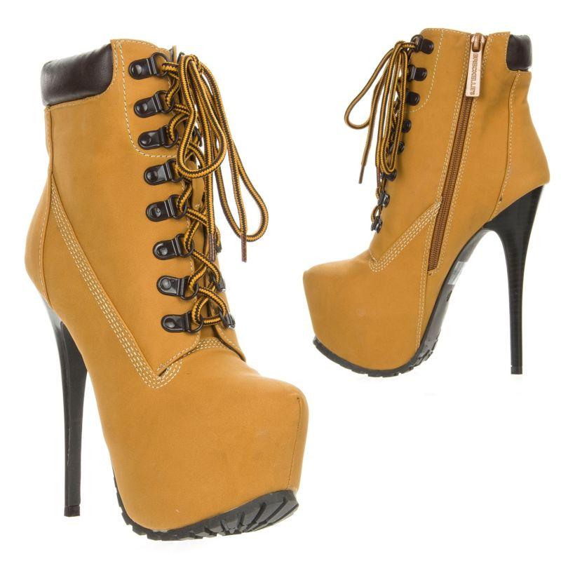 Купить New Breckelle's Lace Up High Heel Platform Bootie на eBay.com из Америки с доставкой в Россию, Украину, Казахстан