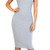 Glamorous - Grey Ribbed Midi Dress | Emprada
