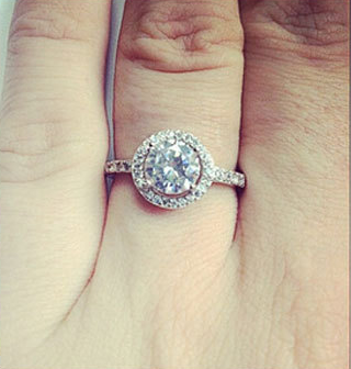 4 carat 925 sterling silver rings cz diamond