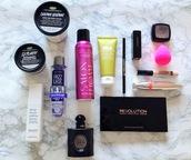 make-up,beauty blender,ysl,lush,perfume,eyeshadow palette,makeup palette,concealer,deodorant,lipstick