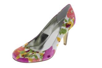 shoes medium heels floral