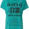 Diesel - graphic t-shirt - women - cotton - m, blue, cotton