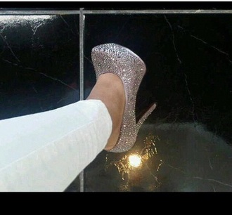 shoes pumps style hig heels rhinestones sparkles glitter shoes glitter