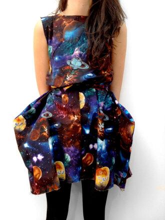 dress galaxy print space