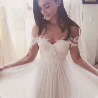 dress lace wedding dress wedding pretty lace dress