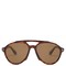 Aviator-frame acetate sunglasses