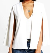 jacket,white,cape,blazer