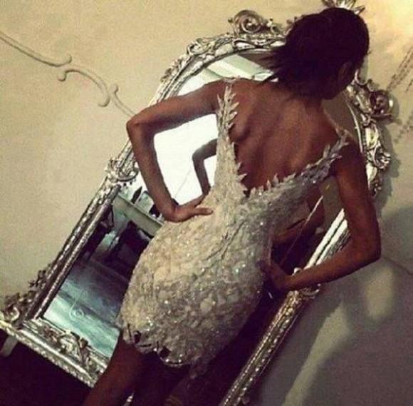 glitter sequins backless dress sparkle dress glamorous