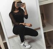 shirt,black,transparent shirt,see through top,hat,all black everything,nails,top,see through,cute,tumblr