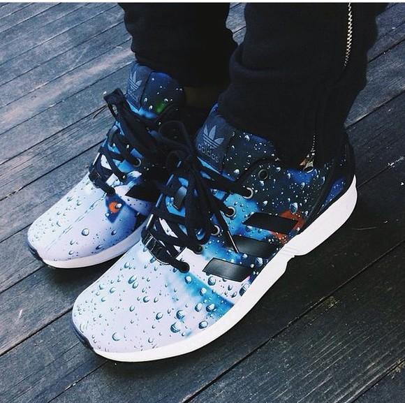adidas adidas shoes black raindrops blue white