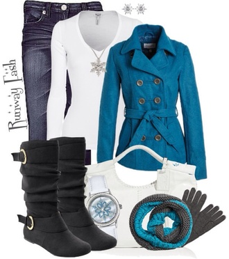buttons jacket jeans cyan