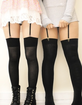 underwear garter belt black tights tights