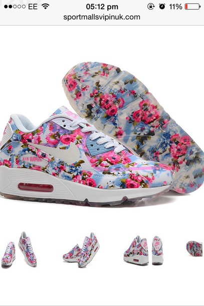 shoes flower print nike air max