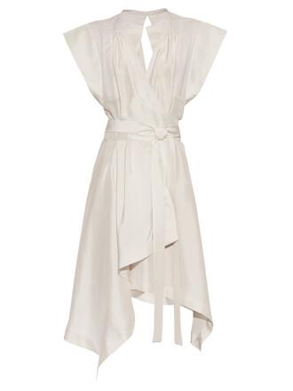 dress silk dress silk white