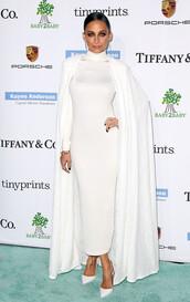 coat,cape,nicole richie,white,white dress