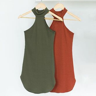 dress rust olive green fall colors kylie jenner dress