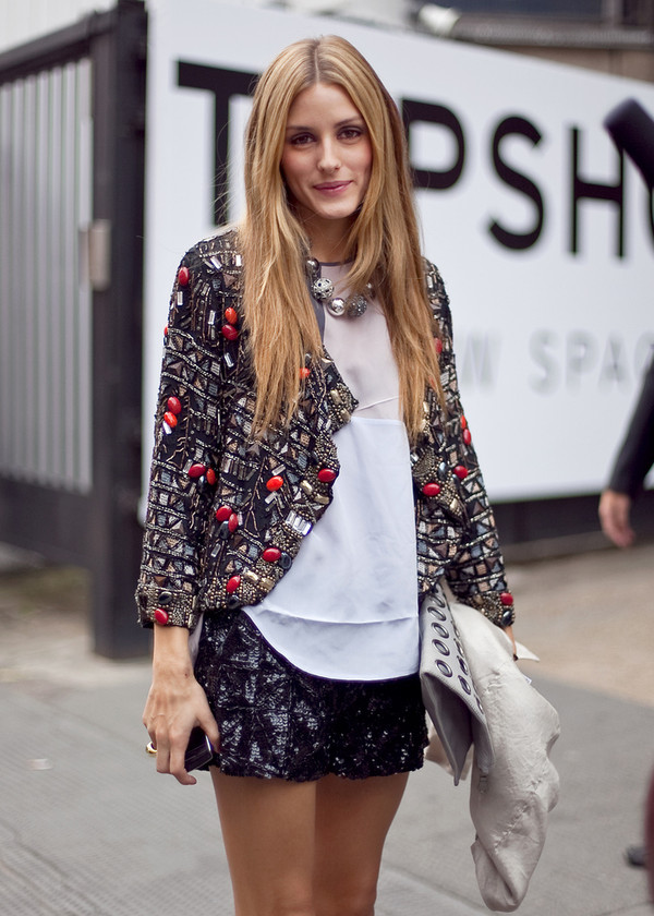 jacket topshop seqiun embellished jacket embellished sequin jacket beaded jacket beaded black fashion week olivia palermo Sequin shorts