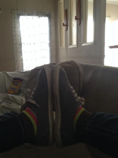 shoes poka dot grey