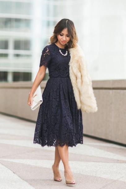 Black midi lace dresses