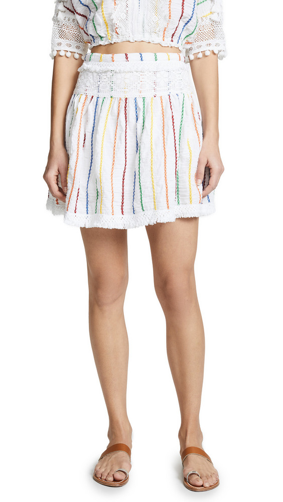 Place Nationale Peille Mini Skirt in white