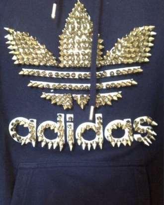 gold&black adidas sweater spikes dope wishlist