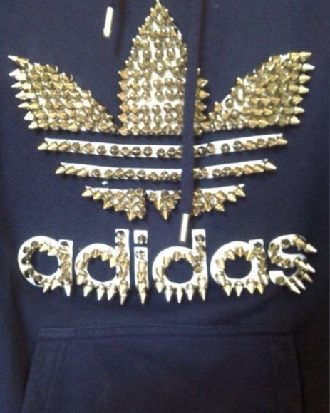 spikes gold&black adidas sweater