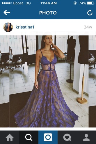 dress prom dress blue sexy sexy dress lace lace dress prom blue prom dress boho dress purple formal blue dress purple dress see through dress gown