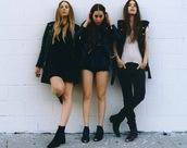 dress,black dress,black,haim,shoes,jacket,black jacket