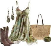 dress,flowy,western,cowgirl,shoes,country,country style,mint dress