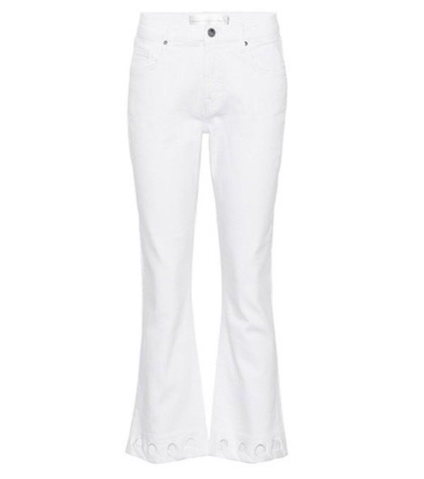 Victoria Victoria Beckham Mini Flare cropped jeans in white