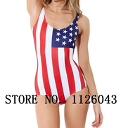 swimwear,one piece swim wear,one piece swimsuit,flag swimwear