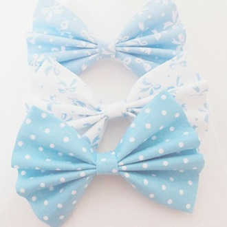 hair accessory pastel hair bows blue bows fashion
