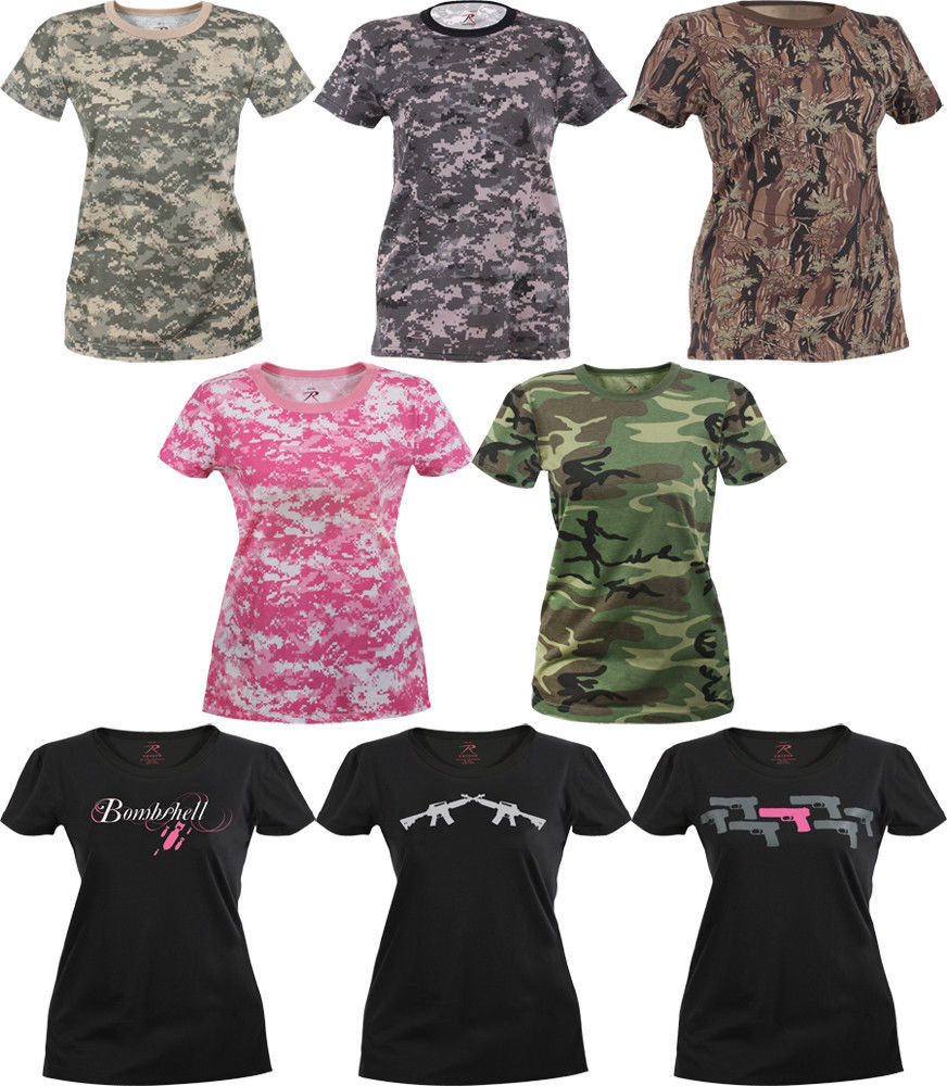 Womens Military Long Length Shirt Camouflage Army Casual ... e67572651